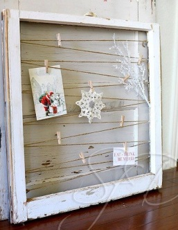Burlap diamonds are forever for Recycled window frames